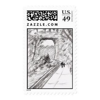 Sellos naturales de Virginia Postaget del puente