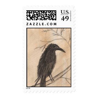 Sellos negros del pájaro del cuervo