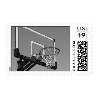Sellos negros y blancos del baloncesto