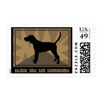Sellos negros y del moreno terrosos del Coonhound