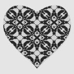 Sellos negros y grises góticos del sobre del calei calcomanías corazones