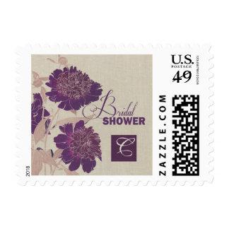 Sellos nupciales de la ducha del diseño floral