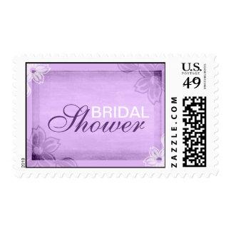 Sellos nupciales púrpuras elegantes de la ducha