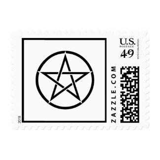 Sellos paganos de Wiccan del franqueo del pentácul