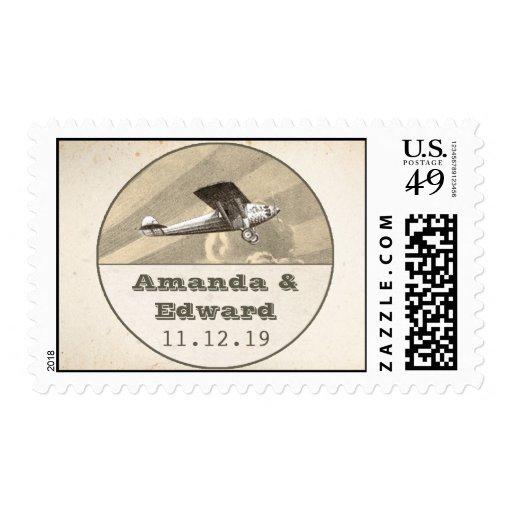 sellos para casarse con el avión