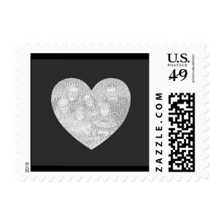Sellos personalizados de la foto del corazón