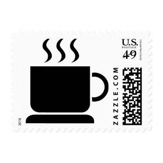 Sellos postales de la cafetería de Barista de la