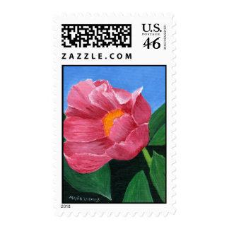Sellos postales de la floración del verano de Mari