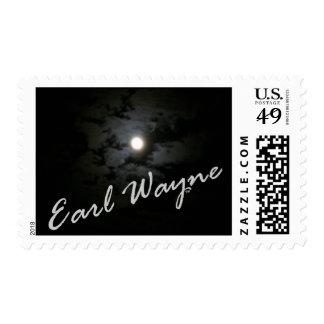 Sellos postales de la luna de Wayne 2010 del conde
