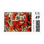 sellos postales de la red de pesca