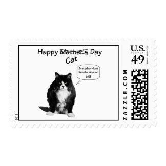 Sellos postales del día gruñón de Cat Mother