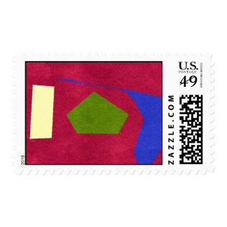 sellos postales del diseño extraño