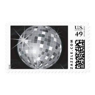 sellos postales del franqueo de plata de la bola