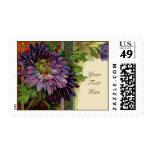 Sellos púrpuras adaptables de la tarjeta de la flo