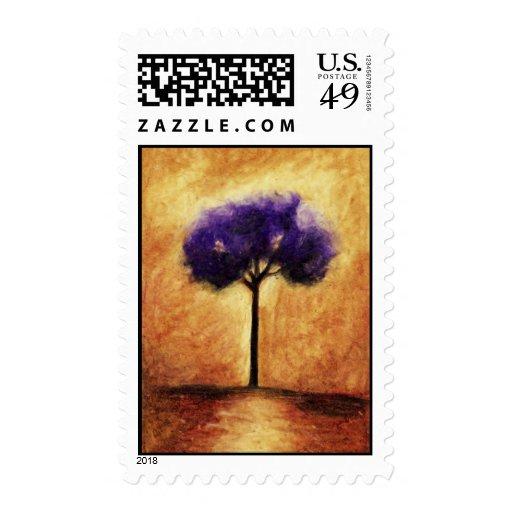 Sellos (púrpuras) del árbol del caramelo de algodó