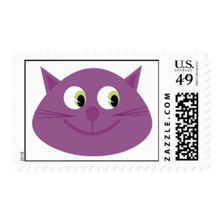Sellos púrpuras del gato