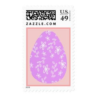 Sellos púrpuras del huevo de Pascua del estampado