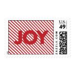 Sellos rayados rojos del navidad de la alegría