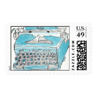 Sellos reales de la máquina de escribir