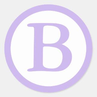 Sellos redondos del sobre con el monograma - etiqueta redonda