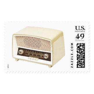 Sellos retros del radio-reloj de los años 70