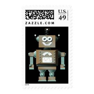 Sellos retros del robot del juguete (DK)