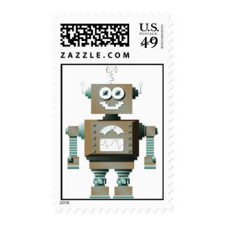 Sellos retros del robot del juguete (lt)