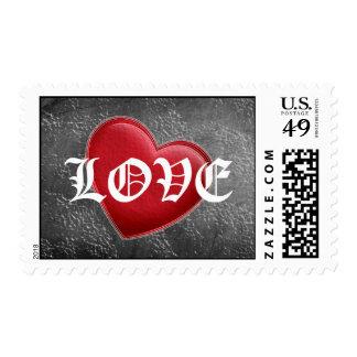 Sellos rojos del amor de la pizarra del corazón