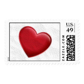 Sellos rojos del amor del corazón