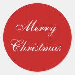 Sellos rojos del sobre del navidad con los ornamen etiqueta redonda