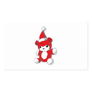Sellos rojos lindos de la invitación del gorra de tarjetas personales