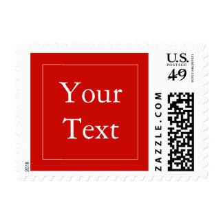 Sellos rojos y blancos con el texto de encargo