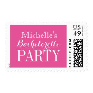 Sellos rosados de neón personalizados del fiesta