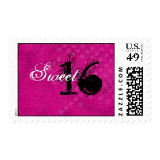 Sellos rosados del dulce dieciséis del fondo