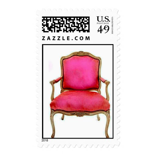 Sellos rosados franceses de la silla