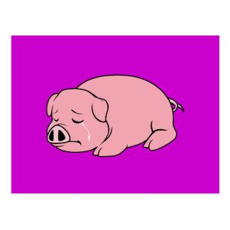 Sellos rosados gritadores de la etiqueta de la postal