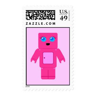 Sellos rosados lindos del robot