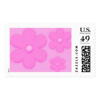 Sellos rosados suaves del trío de la flor 2