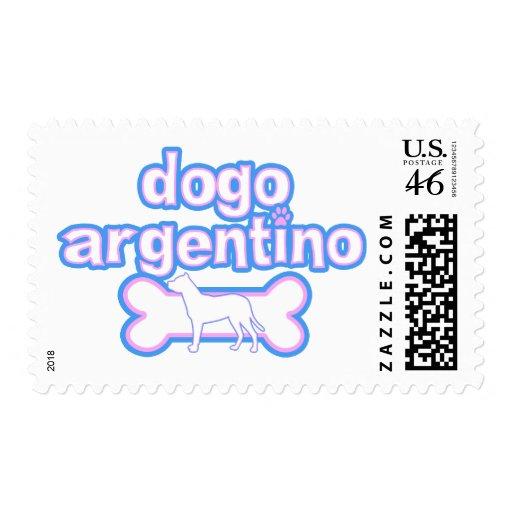 Sellos rosados y azules de Dogo Argentino