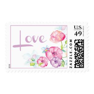 Sellos rosados y púrpuras del amor de la flor de l