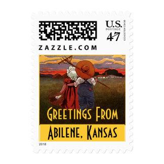 Sellos rurales de Abilene Kansas de los pares de l