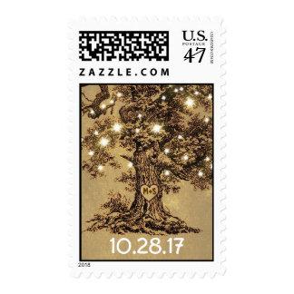 sellos rústicos del boda del roble viejo