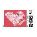 Sellos: Sea tarjeta del día de San Valentín de la