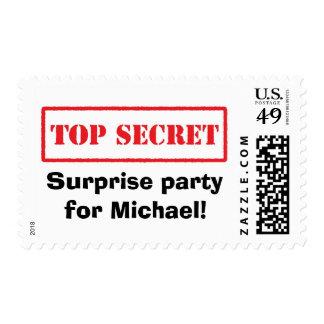 Sellos secretísimos del fiesta de sorpresa del