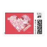 Sellos: Su tarjeta del día de San Valentín linda