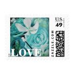 Sellos subiós Peony azul del amor de la orquídea