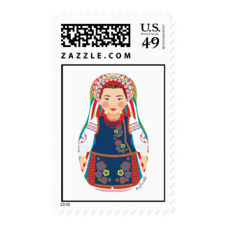 Sellos ucranianos de Matryoshka del chica
