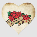 Sellos urbanos subiós tatuaje de RSVP del Rockabil Calcomania Corazon