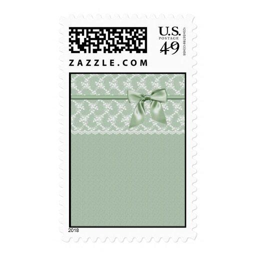 Sellos verdes de lujo de la cinta del cordón