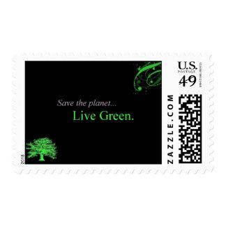 Sellos vivos del verde